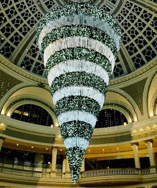 Upside-down Christmas tree at Westfield Centre | Haven Group